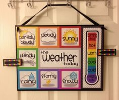 How adorable is this weather chart! Put it in your weather station. Too cute and it's a FREEBIE! How adorable is this weather chart! Put it in your weather station. Too cute and it's a FREEBIE! Classroom Setting, Classroom Displays, Classroom Organization, Classroom Ideas, Classroom Calendar, Seasonal Classrooms, Classroom Board, Classroom Management, Toddler Classroom Decorations