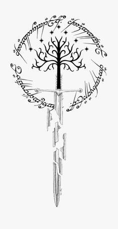 Tolkien Tattoo, Lotr Tattoo, Sword Tattoo, Norse Tattoo, Arm Tattoo, Sleeve Tattoos, Ring Tattoos, Body Art Tattoos, Small Tattoos