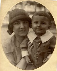 1926. Mom and son.