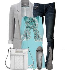 """Bright Blue Tank"" by daiscat on Polyvore"