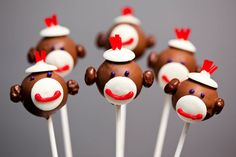 Sock Monkey Cake Pops  Erin, we must get together and make these!