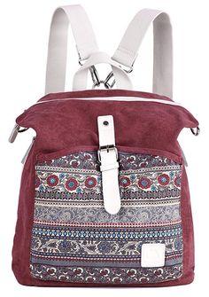 ArcEnCiel Women Girl Backpack Purse Canvas Rucksack Shoulder Bag Backpack  Outfit 5d5f8d99d8c8a