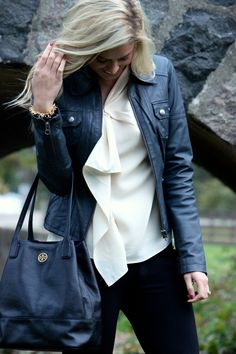 mixing girly and tough. Fall fashion 2013