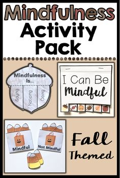 This resource includes 8 fall themed mindfulness activities. These activities will help students learn about what mindfulness is, and how they can practice it. Activities use mindfulness techniques such as guided imagery, thorough reflection, being aware of thoughts and feelings, close observation, and deep breathing. Great for individual, small group and classroom lessons. Each activity includes discussion questions to help guide the activity.