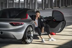 This is the new Opel GT concept built to be the sports car of the future featuring a rear-wheel drive platform, lightweight construction and a bare-essentials only cabin for urban dwellers. It is clear that Opel Opel Gt Concept, Concept Cars, New Sports Cars, Geneva Motor Show, Rear Wheel Drive, Top Cars, Transportation Design, Automotive Design, Chevrolet Corvette