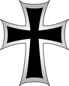"""""""La Orden Teutónica fue una orden medieval de carácter religioso-militar fundada en Palestina en 1190 durante el asedio de la fortaleza de San Juan de Acre. En 1198 se convierte en orden militar.""""  Fueron llamados originalmente """"La Orden de los Caballeros Teutónicos del Hospital de Santa María de Jerusalén"""""""
