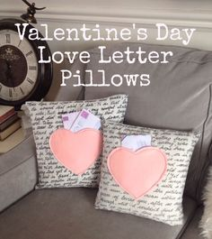Valentine's Day Love Letter Pillows