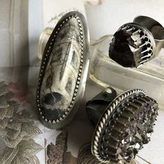 This is a large orthoceras fossil ring. Set in sterling silver with an adjustable ring band. My rings are made to be adjustable so you can switch fingers and where them on any finger you fancy,or give as a gift without fear that it won't fit. Band Rings, Fossil, Gypsy, Fancy, Fish, Sterling Silver, Studio, Gifts, Vintage