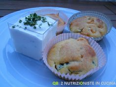Muffin salati alle verdure con salsa di ricotta aromatizzata