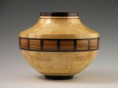 "No. 233 - Woodturning, Segmenting, Wood Vessel, ""Baltimore"", Sculpture, Segmented Woodturning, Home Decor"
