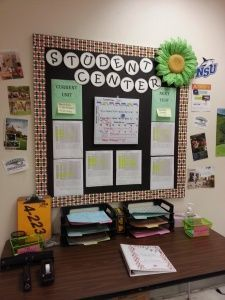 Students Center and Data Wall. Great ideas for a new school year.
