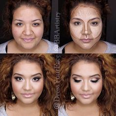 Learn How to Do Makeup for Your Round Face ★ See more: https://makeupjournal.com/round-face-makeup/