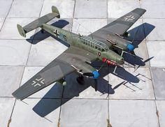 Bf110 G4, 1:48 Revell  www.flugzeugkunst.eu