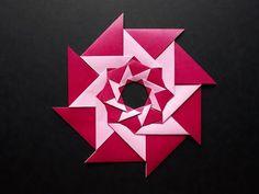 Origami - Girandola Ottagonale - Paolo Bascetta - YouTube Origami Wreath, 3d Origami, Origami Wall Art, Paper Folding, Show, Snowflakes, Wreaths, Flat, Stars