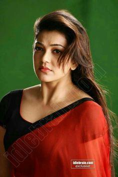 Kajal Aggarwal in Red transparent Saree South Indian Actress Photo, Indian Actress Photos, South Actress, Indian Actresses, Beautiful Bollywood Actress, Most Beautiful Indian Actress, Beautiful Ladies, Anushka Sharma Bikini, Curvey Women