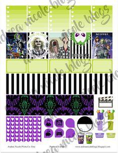 Free Beetlejuice Planner Stickers Andrea Nicole Blogs