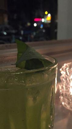 Gin Sour Basil Smasch at Berglund Bar in Hamburg