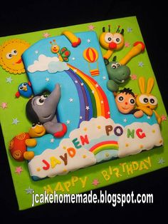 Baby TV birthday cake by Jcakehomemade, via Flickr