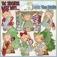 Miss Ginger Stockings 1 - NE Cheryl Seslar Clip Art