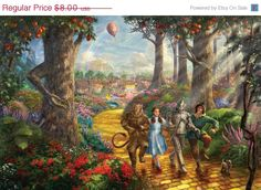 """ON SALE Counted Cross Stitch Patterns - Yellow brick road Oz wizard - Kinkade - 35.43"""" x 23.79"""" - L556 by lovemystitch on Etsy https://www.etsy.com/listing/204855814/on-sale-counted-cross-stitch-patterns"""
