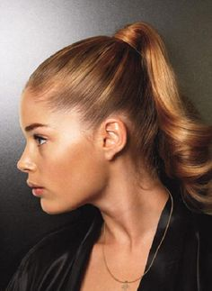 slicked back ponytail hairstyles - Google Search