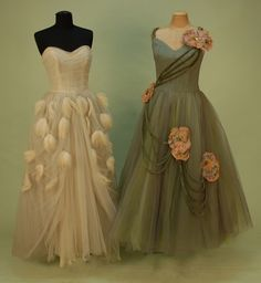 Prom Dresses  1950's I like the one on the right :)