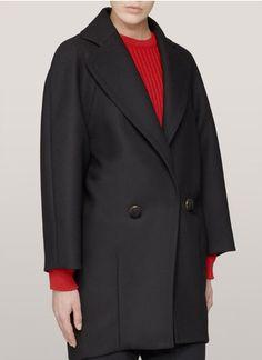ChloéOversized virgin-wool coat