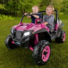 Peg Perego Polaris RZR ATV Battery Powered Riding Toy - Pink - Battery Powered Riding Toys at Hayneedle