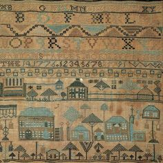 Hannah Staples Sampler, Portland, Maine, 1791 So beautiful !