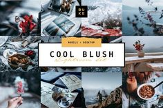 """Creative deep atmospheric professional Lightroom preset pack """"Cool Blush"""" for desktop and mobile devices. Make your photos beautiful in one click! Desktop, Blush, Design Typography, Packaging, Website Themes, Make Color, Illustrations, Photography Projects, Life Photo"""