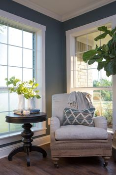This wall color with the linen!!! love!  Find the best of Fixer Upper from HGTV