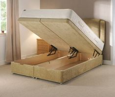 Image of: Hydraulic Lift Storage Bed and Bookcase Tower