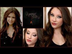 The Vampire Diaries- Katherine Pierce Makeup & Hair Tutorial!------love this for vampire! Vampire Diaries Stefan, Vampire Diaries Makeup, Nina Dobrev, Bonnie Bennett, Katherine Pierce, Elena Gilbert, Paul Wesley, Beauty Makeup, Hair Makeup