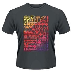 Men's Muse The 2nd Law Song Titles T-Shirt (Grey)
