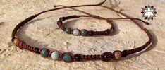 macramotiv.com Men's macrame necklace, men's knotted bracelet