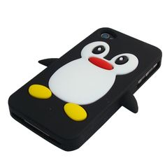 ★★This New Black Penguin Rubbery Feel Anti-Slip Silicone Skin Case Cover For Apple iPhone 4S /4 Protects from scratches and dust  ★★Penguine Design Soft Silicone  Case For Apple iphone 4/4s ►►Buy Here►► http://www.cyberworldltd.co.uk/buy-penguine-designed-soft-silicone-back-case-skin-cover-pouch-black-for-apple-iphone-4-p1238.htm ►►Best Price : £4.95