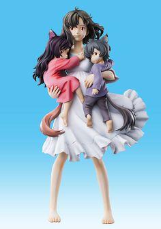 Crunchyroll - Store - Wolf Children Scale Figure- Hana, Ame, and Yuki (Chozo Art Collection) Figurine Anime, Figurine Pop, Chibi, Goodies Manga, Wolf Children Ame, Lobo Anime, Familia Anime, Animes Yandere, Anime Dolls