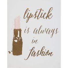 Buy Lipstick Is Always in Fashion Canvas at TK Maxx Lipstick Art, Long Lasting Lipstick, Lip Service, Tk Maxx, Home Accessories, Canvas Art, Fancy, Paint, Wall Art