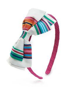 Joules JNR HEADBAND Girls Bow Headband, Ribbon. A cute headband that will brighten up any girl's wardrobe.