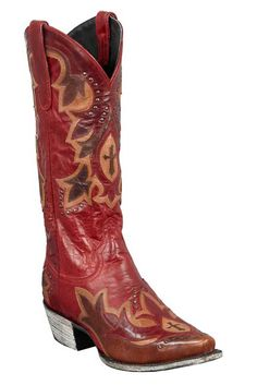 Lane Red Stella Boots from Head West Oufitters, perfect for the holidays.