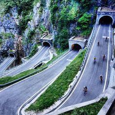 """Mi piace"": 7,043, commenti: 205 - Rapha (@rapha) su Instagram: ""Rapha Randonnée Dolomites 2015 Passo San Boldo #raphatravel  Photo | @dolophonic"""
