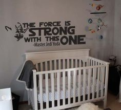 Star Wars Inspired The Force is Strong With This One Yoda Vinyl Wall Decal Sticker .Yoda Vinyl Wall Decal Sticker Approximately. Star Wars Bedroom, Star Wars Nursery, Star Wars Tattoo, Sois Fort, Star Wars Decor, Star Wars Facts, Star Wars Quotes, Star Wars Baby, Star Wars Wallpaper