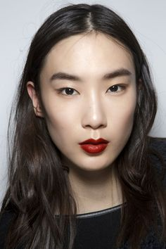 Moody red lips at 3.1 Phillip Lim
