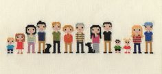 Extra Large Family Custom Pixel #CrossStitch Portrait (Unframed)