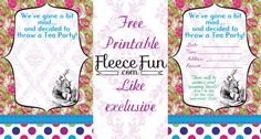 Oh yes my facebook friends you are due for another like exclusive.  This time it's a printable party!  Currently the invites are up, but I'll be adding decorations and other free printa…