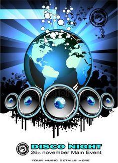 Techno, Disco Night, Picture Frame Decor, Music Backgrounds, Logo Concept, World Music, Mandala, Dj Remix, Flyers