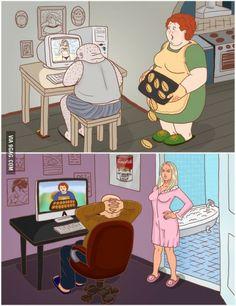 Men wish women different