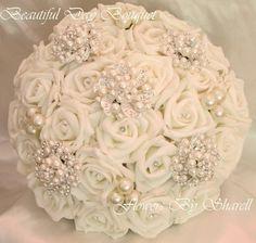Wedding Flowers Brooch Bouquet Wedding by BeautifulDayBouquet