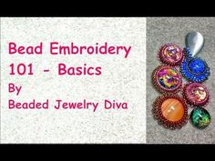 Bead Embroidery 101 - basics #Seed #Bead #Tutorials