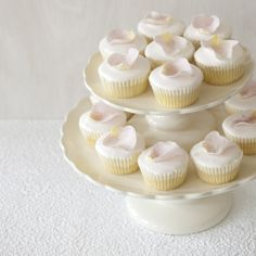 Discover the best ideas for Cake & Desserts! Read articles and watch videos about Cake & Desserts. Petal Cupcakes, Wedding Cakes With Cupcakes, Cupcake Cakes, Cupcake Wedding, Cupcake Art, Wedding Topper, Wedding Cake Photos, Wedding Catering, Catering Events